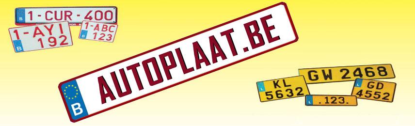 Belgische en Luxemburgse nummerplaten